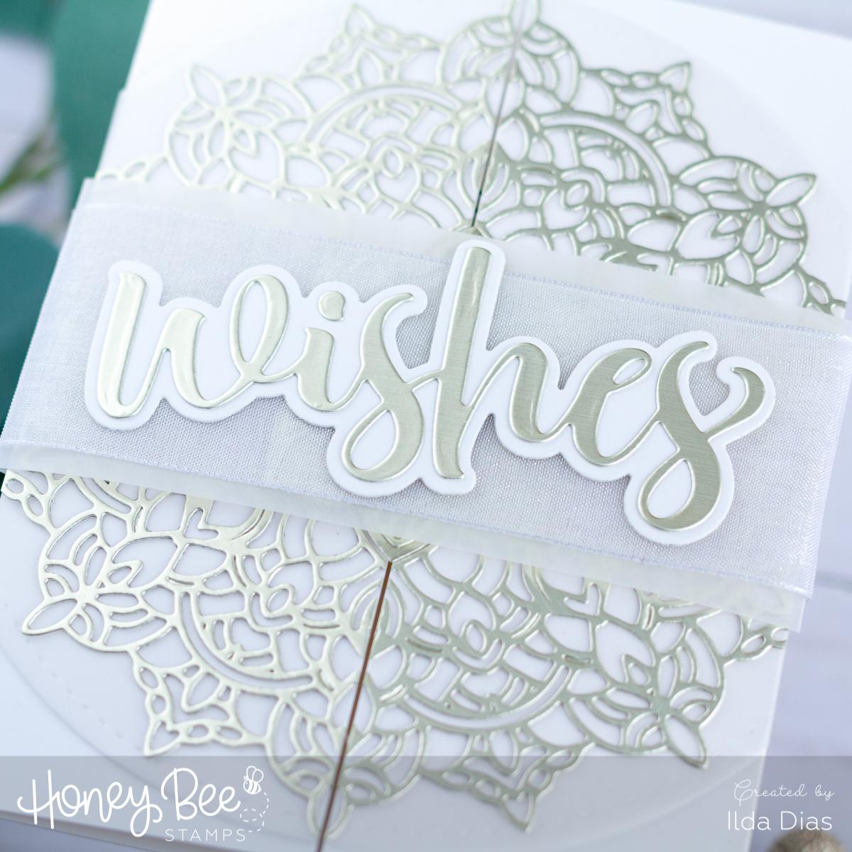 Mandala Gatefold Wedding Wishes Card