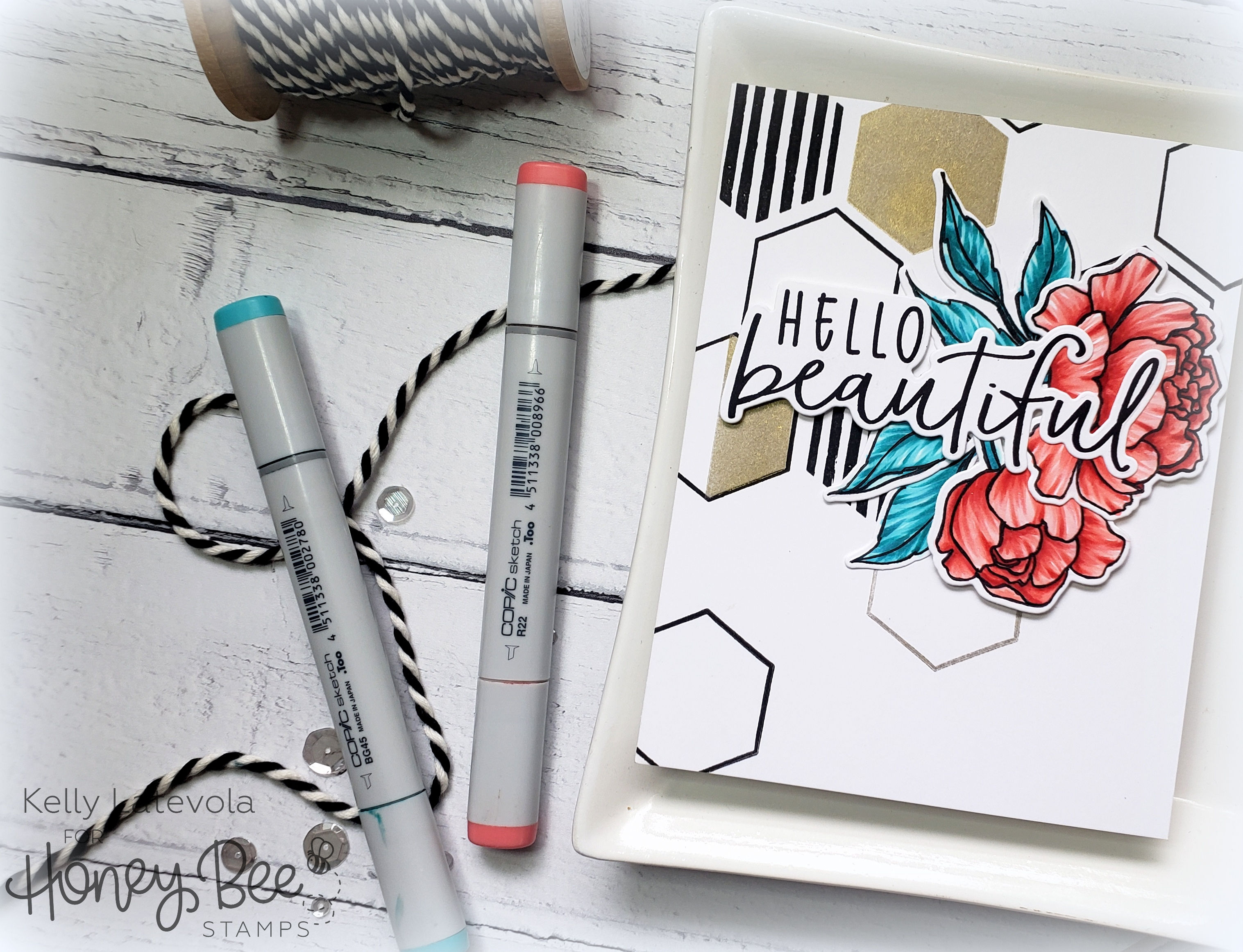Spring Peony + Hexagon Patterns with Kelly Latevola