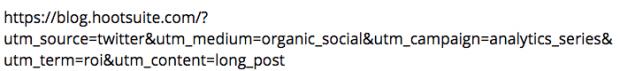 URL with UTM parameters