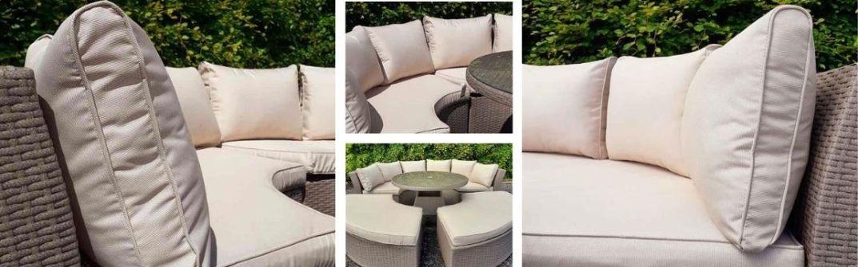 Casino Half Moon Garden Furniture Set