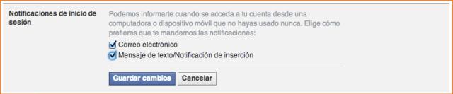 activar notificaciones de inicio de sesion