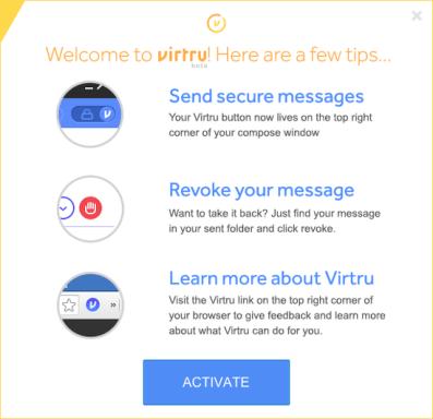 activar virtru para hotmail