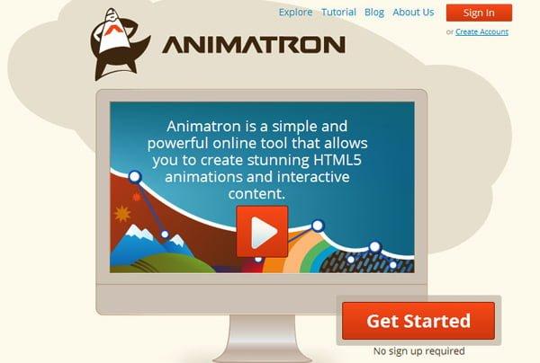 animatron animacion de objetos