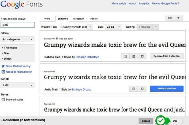 escoger fuente google fonts