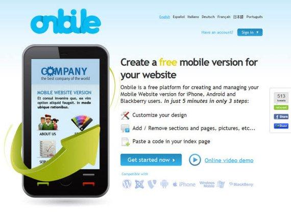 onbile pagina web a aplicacion movil