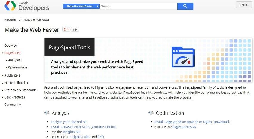 page speed joomla