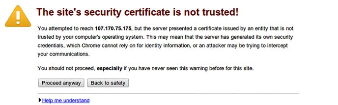 precaucion certificado ssl