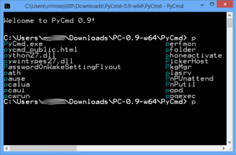 pycmd en windows
