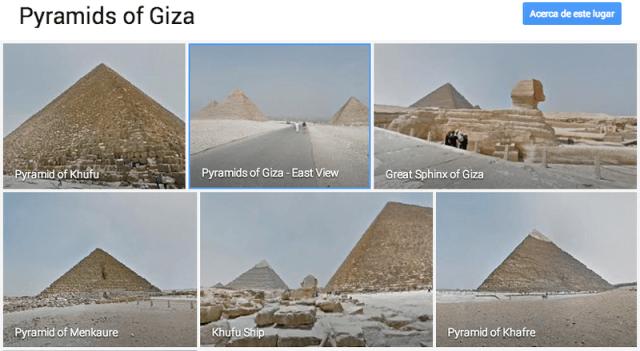 tour piramides de giza google street view