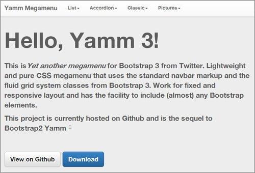 yamm para bootstrap