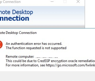 credssp error solution