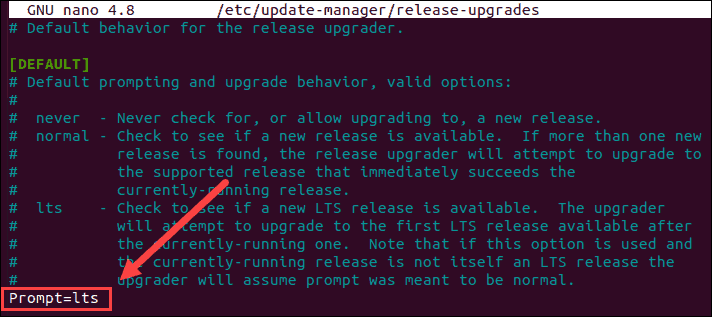 screenshot of Updating the manager configuration file