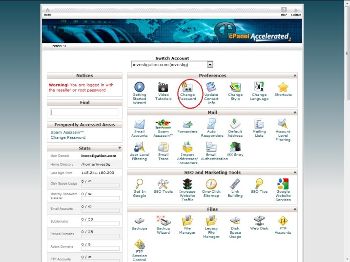 , How to Change the cPanel Password ?, Hostripples Web Hosting