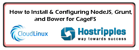 NodeJS, Grunt, and Bower, To Configuring NodeJS, Grunt, and Bower for CageFS, Hostripples Web Hosting