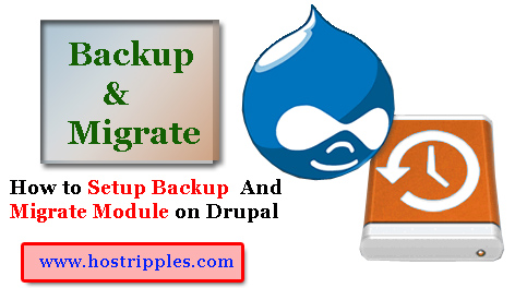 How to setup Backup & Migrate Module on Drupal, Hostripples Web Hosting