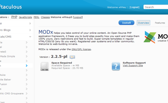Softaculous, How to Install MODx using Softaculous in cPanel, Hostripples Web Hosting