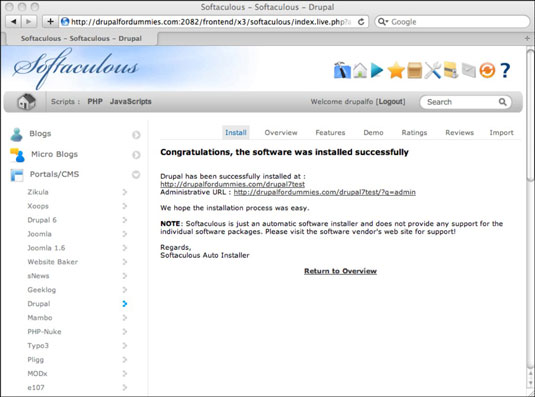 Install Drupal, How to Install Drupal Using Softaculous, Hostripples Web Hosting