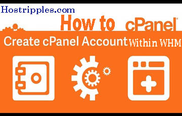 create a cPanel account, How to create a cPanel account within WHM, Hostripples Web Hosting