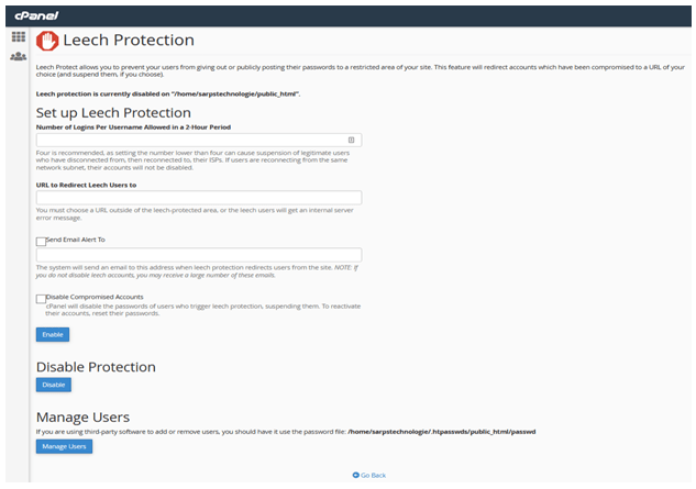 Leech Protection, What is Leech Protection in cPanel? Steps to configure leech protection, Hostripples Web Hosting