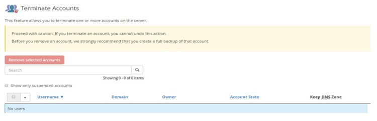 The Steps Used For Suspending or Unsuspending an Account? in WHM /cPanel, Hostripples Web Hosting