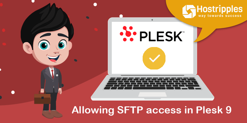 Allowing SFTP access in Plesk 9, Hostripples Web Hosting