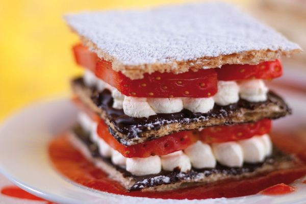 Strawberry and Chocolate Mille-Feuille