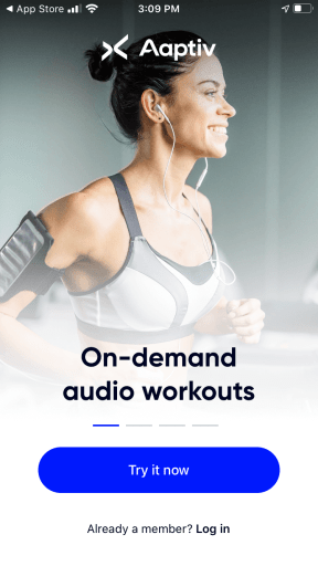 The Aaptiv app offers voice guided, trainer-led, and music-driven workouts for those who don't need or want video visuals. With audible, you can stream over 2,500 on-demand workouts in categories like cycling, interval training, long-distance running and elliptical.