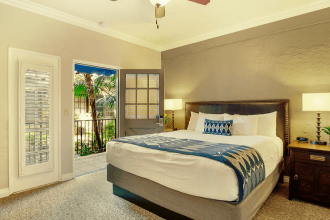 A day room at El Cordova Hotel in San Diego.