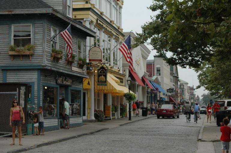 View of downtown Newport, Rhode Island