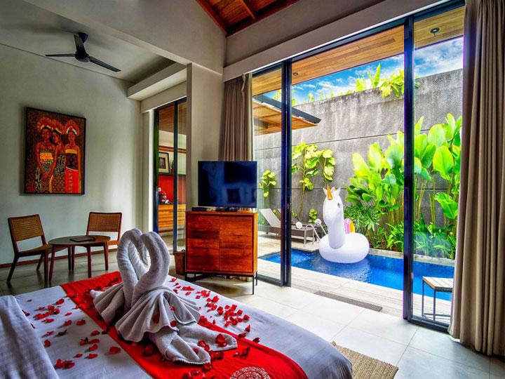 Abia Villa Legian - Bed Room Private Pool - Hoterip, Layanan Pesan Hotel Terbaik, Pesan dan Booking Hotel di Bali