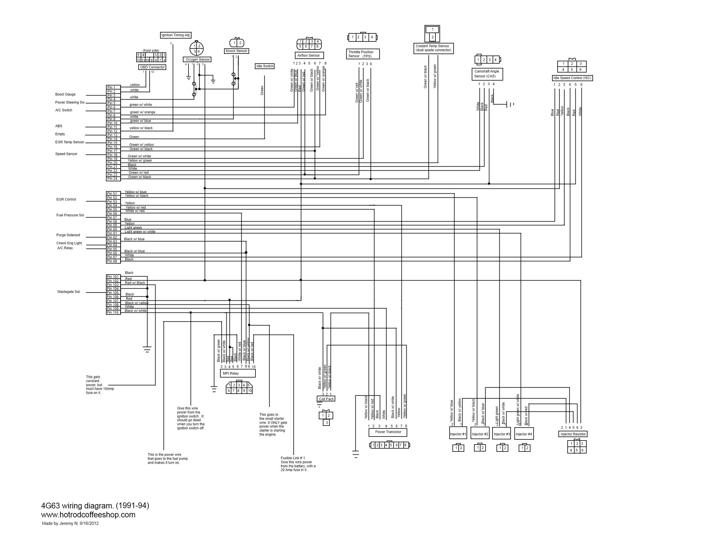 I Made A 4g63 Turbo Wiring Diagram To Help People With Engine Swaps Autoelectrical