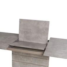 Novara Concrete Effect Extending 220cm Dining Table