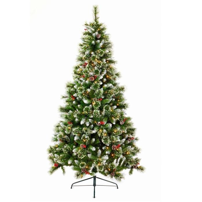 7ft Pre-lit Sugar Pine Christmas Tree