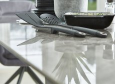 Olympia Grey High Gloss Ceramic Extending DIning Table