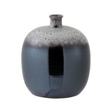 Brown and Grey Ceramic Dot Vase