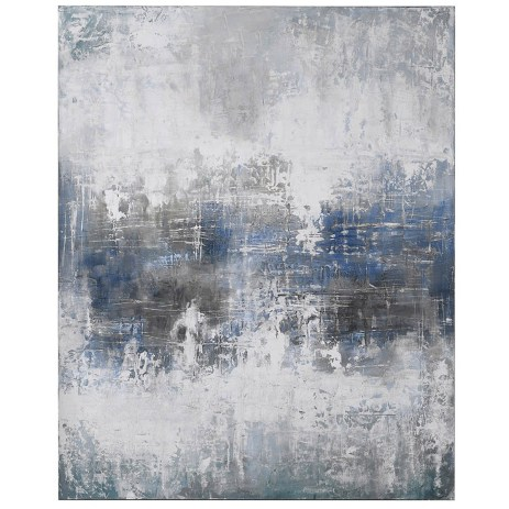 Abstract Blue & Grey Painting