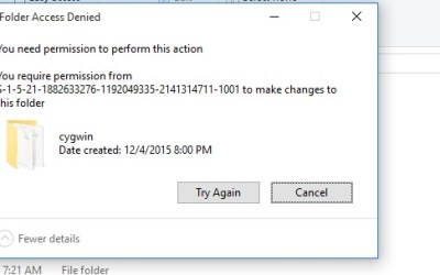 "How to fix the ""You need permission to perform this action. You require permission from S-1-5-*****"" error on a Windows PC"