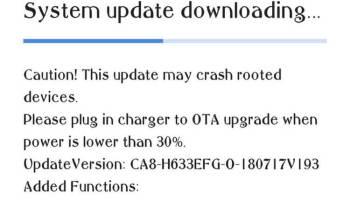 Tecno Camon X receives CA7-H633BCDK-O-180614V192 OTA update