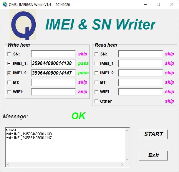 QMSL IMEI