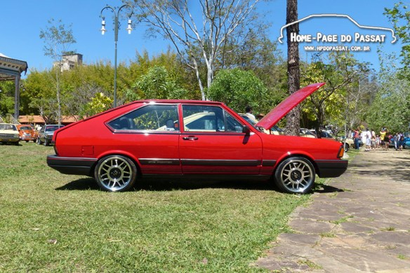 Passat GTS Pointer 1988 do Ronnie Oyama: uma lenda entre os passateiros, presente no evento.