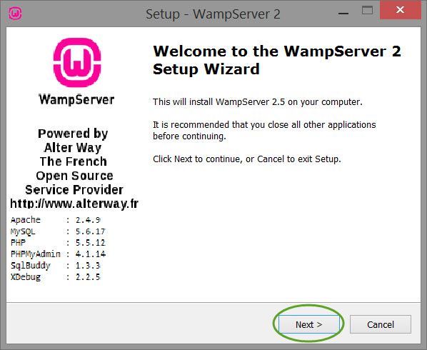 Installing-and-configuring-wamp-server-install-screen-1