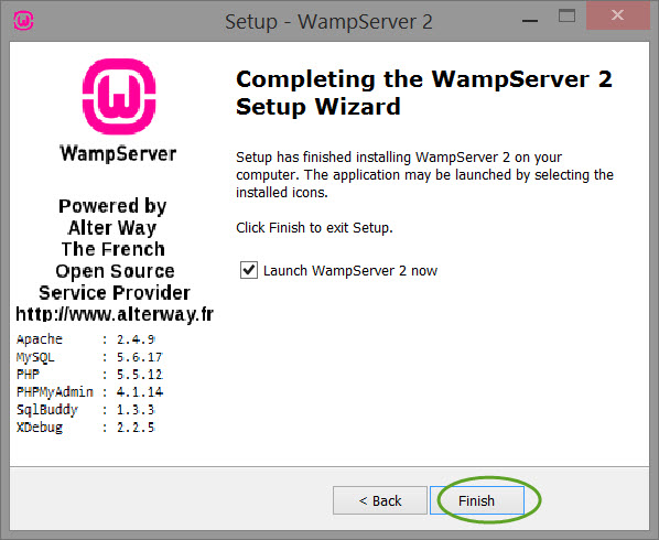 Installing-and-configuring-wamp-server-install-screen-9