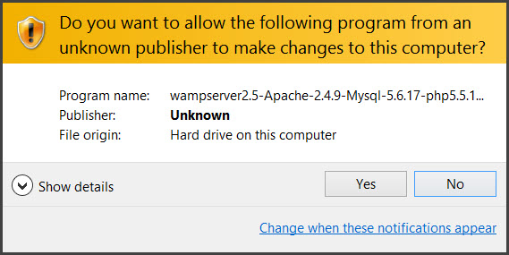 Installing-and-configuring-wamp-server-windows-warning