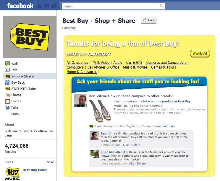 Best Buy Facebook
