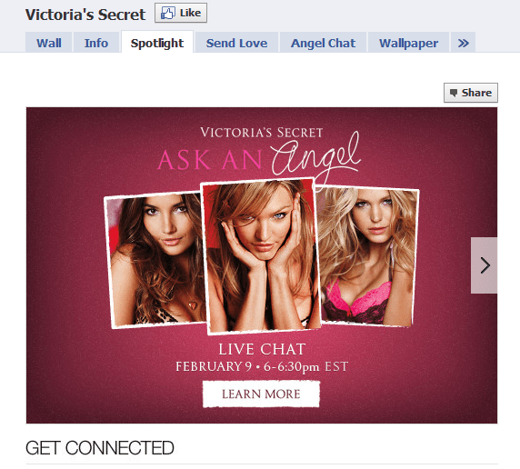 Victoria Secret Facebook Fan Page