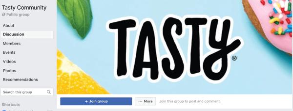 best facebook groups: tasty