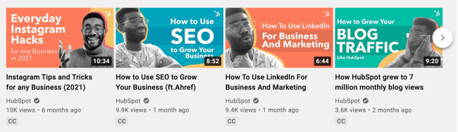 HubSpot video marketing example to drive traffic to your website