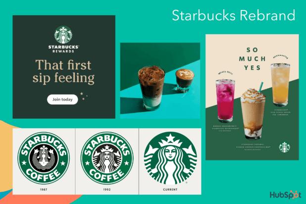An example of a rebrand, Starbucks impressive rebranding