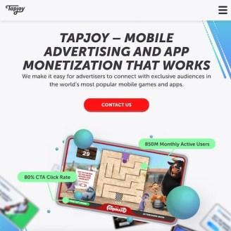TapJoy performance marketing tool