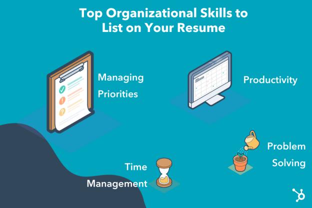 Organizational skills for your resume